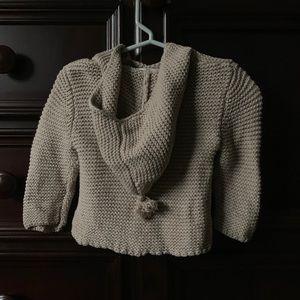 EUC Zara Baby Knit Hooded Sweater with Tassel Top